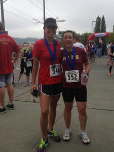 Jamie and I at the finish