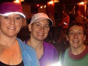 Amy, Adrienne and I. We are all starting our 3rd marathon.