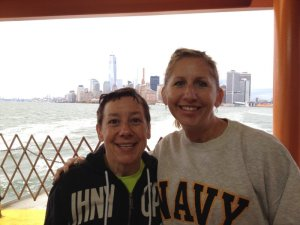 Rebecca and I on the ferry. Her picture.
