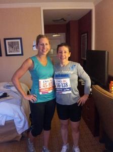 Rebecca and I ready to run!
