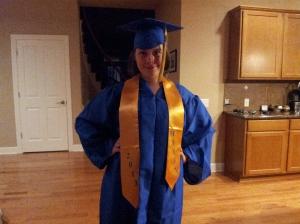 Emily graduating from Hazen High School