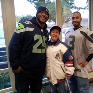 Omari, Dion and I in our football gear.