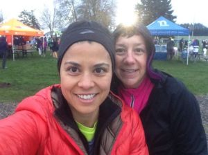 Jamie and I before the race. Her picture.
