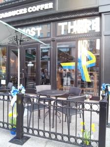 The Starbucks on Boylston St