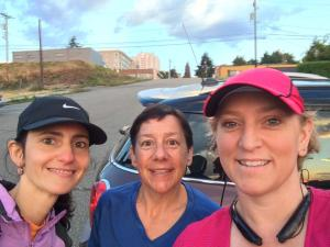 Sophia, Amy and I before the race. Amy's picture.