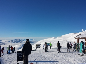 The top of Whistler