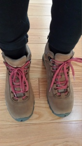 My first pair of real hiking boots!