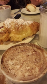 Cappuccino and Lobster Tail from Cafe Victoria